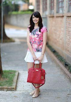 Look do dia: Bolsa vermelha   Just Lia