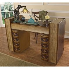Found it at Wayfair - Literary Volumes Writing Desk Home Office Desks, Office Decor, Long Desk, Computer Desk With Hutch, Best Desk, Home Theater Seating, L Shaped Desk, 5 W, Writing Desk