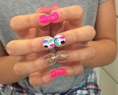 Semi-permanent varnish, false nails, patches: which manicure to choose? - My Nails Get Nails, Fancy Nails, Love Nails, Pretty Nails, Hair And Nails, Fancy Nail Art, Colorful Nail Art, Cute Nail Designs, Summer Nails