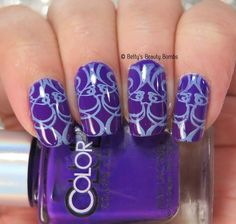 Blue and Purple Stamping