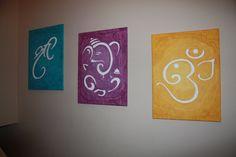 Shree / Ganesha / Om Canvas Painting by LagunaArtCo on Etsy