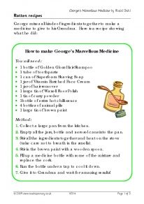 Create your own 'marvellous medicine' recipe! Includes a sample text, or wagoll, and a writing frame with suggested vocabulary for pupils to write their own recipe. Roald Dahl Activities, Writing Activities, Georges Marvellous Medicine Costume, George's Marvellous Medicine, Roald Dahl Books, Procedural Writing, Primary Teaching, Teaching Ideas, Teaching Writing