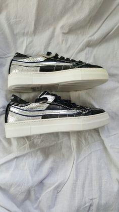 Neu np 209€ Primabase Sneaker schwarz silber gr 36