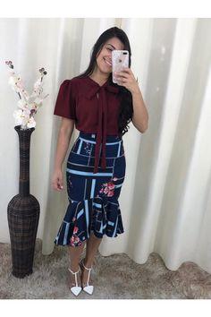 Saia+Sereia+Flores+Do+Jardim Camisa Formal, Shirt Dress, T Shirt, Ideias Fashion, Dresses, Mermaid Skirt, Spring Summer, Garden, Outfits