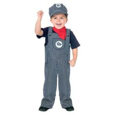 ToddlerBoys Train Engineer Costume
