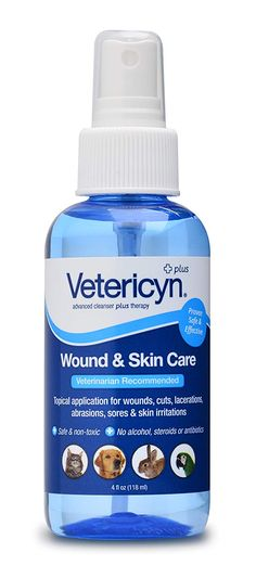 Vetericyn is a one-step wound and skin care product for animals. Vetericyn doesn't harm healthy tissue and is safe for use on all animal species of all ages.Vetericyn is non- toxic, steroid- free, antibiotic- free. Top Skin Care Products, Best Face Products, Dog Products, Beauty Products, Nursing Supplies, Cat Supplies, Cat Care Tips, Dog Care, Neutral