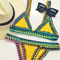 a0f0e40c81 Super Inspired By The Gorgeous Colours + Print Of This 'Kini' Swimsuit