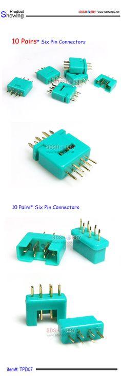 10 Pairs* Six Pin Connectors