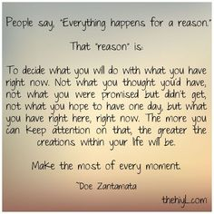 Inspirational & Positive Life Quotes : Everything happens for a reason