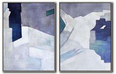 Set of 2 Contemporary Art #S105