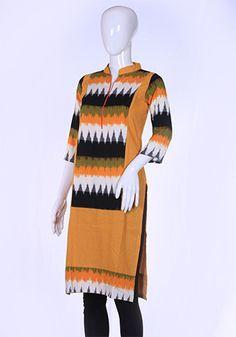 Yellow Ikat Kurta – Desically Ethnic