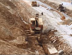Bucyrus Erie, Construction Machines, Big Time, Heavy Equipment, Shovel, Hampshire, Trench, Cable, Trucks