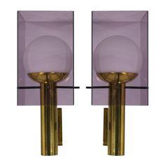Beautiful pair of large Stilux sconces | Cabina Design Gallery