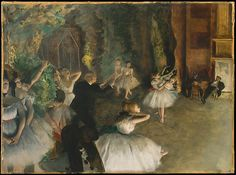 Edgar Degas (French, 1834–1917). The Rehearsal of the Ballet Onstage, ca. 1874. The Metropolitan Museum of Art, New York. H. O. Havemeyer Collection, Gift of Horace Havemeyer, 1929 (29.160.26)