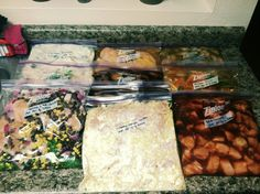 finally! 8 recipes where all 8 sound yummy to me!! lol making our marx: 10 freezer to crockpot meals (2 doubled)