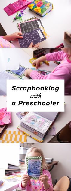"""My heart leapt when my three year old asked: """"Mommy, will you teach me how to make a scrapbook?"""" I showed her how to use Project Life products to create a scrapbook of her school valentines."""