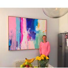 Sold Paintings 'in situ' / kirstenjackson abstracto Diy Deco Rangement, Selling Paintings, Art Paintings, Portrait Paintings, Acrylic Paintings, Colorful Abstract Art, Painting Abstract, Canvas Artwork, Abstract Painting Canvas