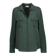 Valerie Blouse in Hunter Green by L'Agence