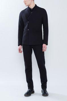 早春新款 雋唯JOHNWEHL 男士中式領偏門襟扣袢便裝-淘寶台灣,萬能的淘寶