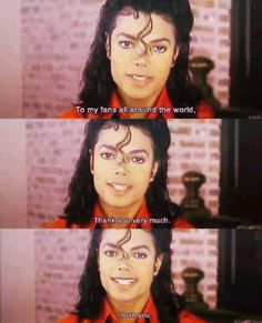 To my fans... Michael Jackson