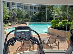 Energizing 24 Hour Fitness Center is located right by the pool at Whispering Pines Ranch