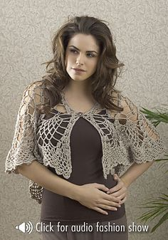Aphrodite Shawl By Karen Drouin - Free Crochet Pattern - See http://www.ravelry.com/patterns/library/aphrodite-shawl For Additional Projects - (favecrafts)