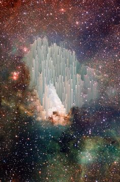 "Swan nebula~ the heavens declare the glory of God. I don't know how scientists account for the ""spire"" formations."