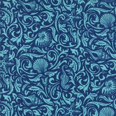 Seascapes Nautical Gifts From The Sea Dark Blue by southernfabric, $4.99