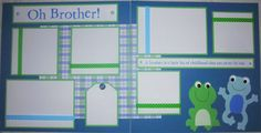 OH BROTHER 12x12 Premade Scrapbook Pages FrOGs. $20.00, via Etsy.