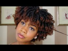 Heatless Perm Rod Set on Natural Hair - YouTube