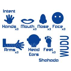 Our fun Wudu decal will help your children preform the rituals ofablution. Place the decal on your bathroom wall, or mirror. Cut and Place your desired orienta