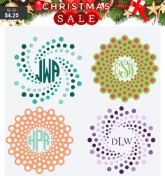 Monogram Decal, Yeti Monogram Frames, Rtic sticker, Vinyl Monogram Decal, Multi-color & patterns, Car decal, Custom Stickers for Cups, gifts