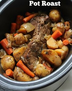 {not my pic} IP pot roast ~3.5# grass fed Seasoned and seared  Deglazed with beef broth~ 1.5 to 2c HP 25 min, NPR 15 min Added baby carrots, potatoes, onions HP 4 min, QR Added a tapioca starch slurry to gravy