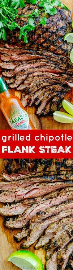 Go-to flank steak recipe! The marinade is so easy with just a few ingredients… #sponsored #Tabasco10| http://natashaskitchen.com #beeffoodrecipes