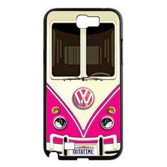 Retro pink Volkswagen VW mini bus capsule Samsung Galaxy note 2 case, US$16.50