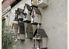 one of a kind birdhouses at rolling greens hollywood- may borrow some ideas from these