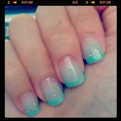 Image about love in Nails by Erika Rose ☼ on We Heart It Cute Nails, Pretty Nails, My Nails, Sparkle Gel Nails, Faded Nails, Bridesmaids Nails, Latest Nail Art, Good Hair Day, French Nails