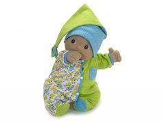 Deze pyjamaset voor de Rubens Barn babypoppen bestaat uit een groen/blauw pakje met drukknopen en een slaapmuts. De stof is zeer soepel en zacht. Hier kan de baby heerlijk in slapen!