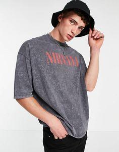 Nirvana, Asos, Charcoal, Long Sleeve, Sleeves, Mens Tops, T Shirt, Shopping, Design