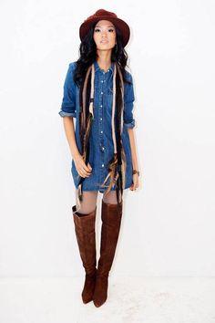 Vestido chemise jeans Levis inverno 2011 [9]