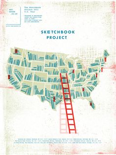 """""""The Sketchbook Project is a traveling   library that archives thousands of  artists' sketchbooks from across the  globe and shares them with the public."""""""