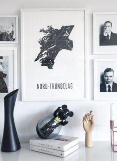 IG: @frutanem | map poster by @annehcopenhagen #mapposter #trøndelag #picturewall #bildevegg