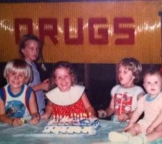 It's easy to see why these kids are so happy. most odd , freaky and inappropriate placing of a sign in a family birthday party photo ever , did it photo bomb the snap or had the camera man fallen foul of the advertising on the billboard and didn't notice it ? funny mistakes in photography 101