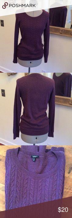 Talbots purple Purple pullover sweater, size M, lightweight cotton, polyester and wool, pretty Talbots Sweaters Crew & Scoop Necks