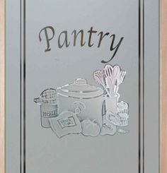 Close up of wheat petite 2d etched glass pantry door design by sans bakers delight c pantry door carved etched glass pantry door with custom classic design customize your design wood type border and font style to your planetlyrics Choice Image