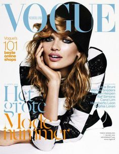 Vogue Netherlands cover with Bette Franke - March 2013