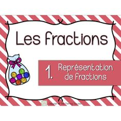 Représentation de Fractions ** Cartes à tâches 3rd Grade Math, Grade 3, French Resources, Math Fractions, Cycle 3, Task Cards, Teaching Math, Kids Learning, Spelling