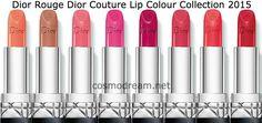 новые помад руж диор 2015 Dior Rouge Dior Couture Lip Colour 2015 collection shadows