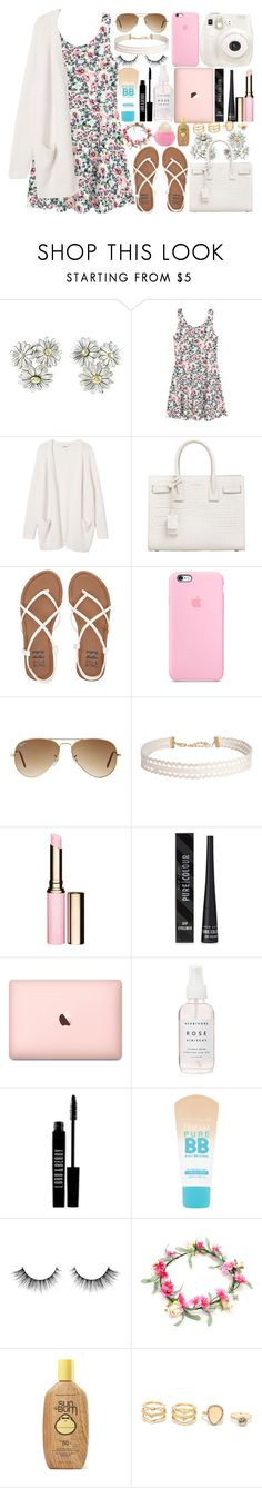 """""""Back2School"""" by itsfashioninfinity ❤ liked on Polyvore featuring Gucci, Monki, Yves Saint Laurent, Billabong, Fuji, Ray-Ban, Humble Chic, Clarins, New Look and Lord & Berry"""