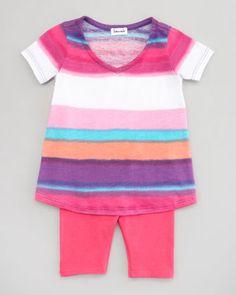 Watercolor Stripe Tunic & Leggings Set by Splendid Littles at Neiman Marcus.
